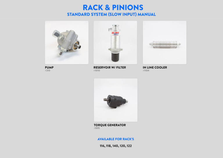 Rack & Pinion Standard System Slow Input MANUAL