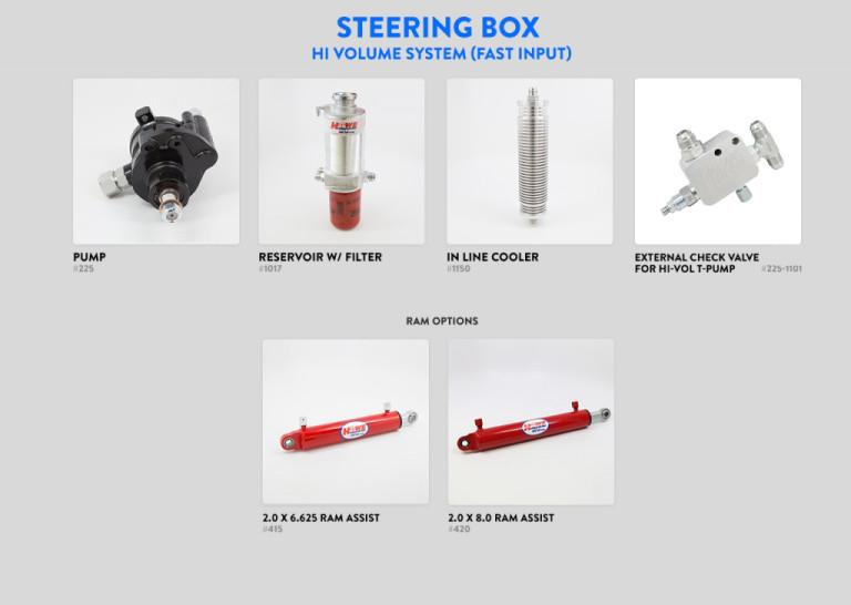 Steering Box Hi Volume System FAST INPUT