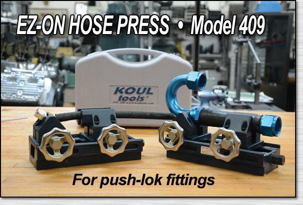 koul tool ez on hose press   howe
